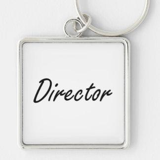 Director Artistic Job Design Silver-Colored Square Key Ring