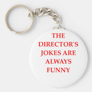DIRECTOR BASIC ROUND BUTTON KEY RING