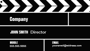 Clapperboard business cards business card printing zazzle uk director clapperboard film movie business card colourmoves