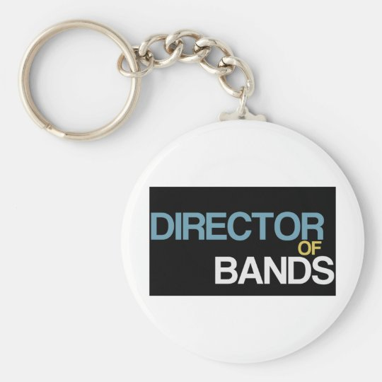 Director of Bands Basic Round Button Key Ring