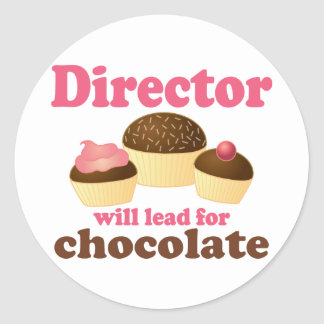 Director Will Lead for Chocolate Round Sticker