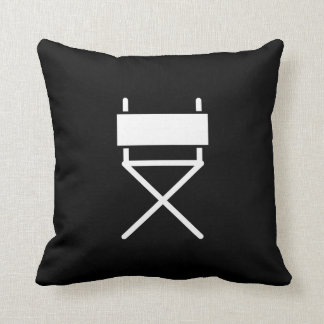 Director's Chair Pictogram Throw Pillow