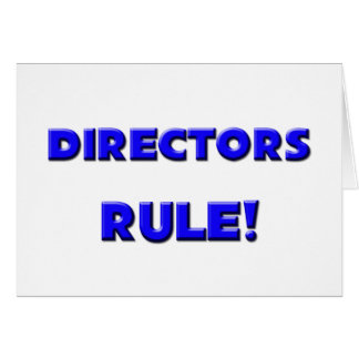 Directors Rule! Card