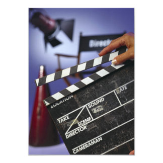 Director's Slate 11 Cm X 16 Cm Invitation Card