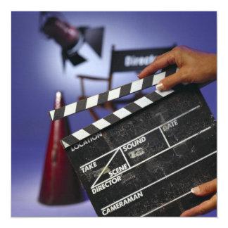 Director's Slate 13 Cm X 13 Cm Square Invitation Card