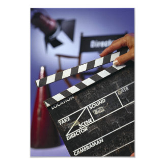 Director's Slate 9 Cm X 13 Cm Invitation Card