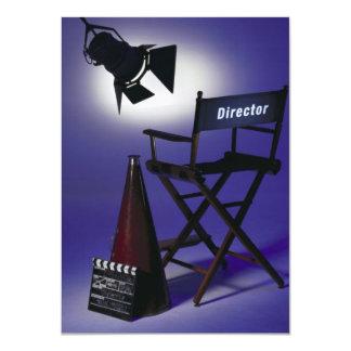 Director's Slate, Chair & Stage Light 2 11 Cm X 16 Cm Invitation Card