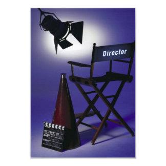 Director's Slate, Chair & Stage Light 2 9 Cm X 13 Cm Invitation Card