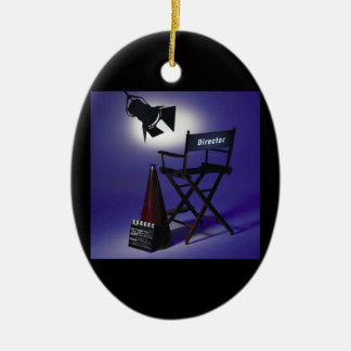 Director's Slate, Chair & Stage Light 2 Christmas Ornament