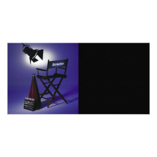 Director's Slate, Chair & Stage Light 2 Personalized Photo Card