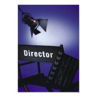 Director's Slate, Chair & Stage Light 9 Cm X 13 Cm Invitation Card