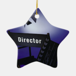 Director's Slate, Chair & Stage Light Christmas Ornament