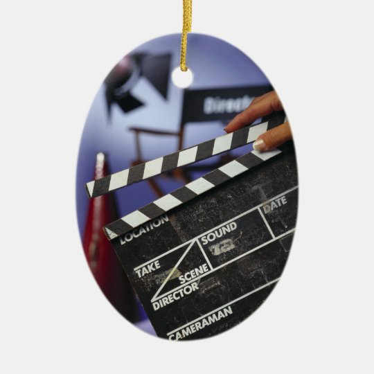 Director's Slate Christmas Ornament