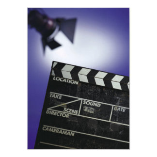 Director's Slate & Stage Light 11 Cm X 16 Cm Invitation Card