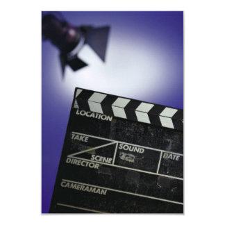 Director's Slate & Stage Light 9 Cm X 13 Cm Invitation Card
