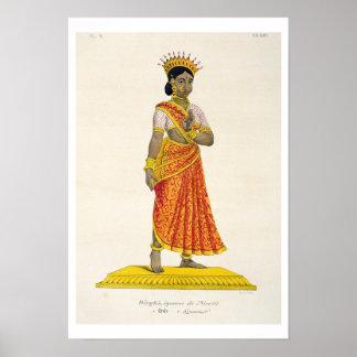 Dirgha wife of Nirriti, engraved by C. de Motte (1 Poster