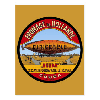 Dirigeable Holland Cheese Postcards