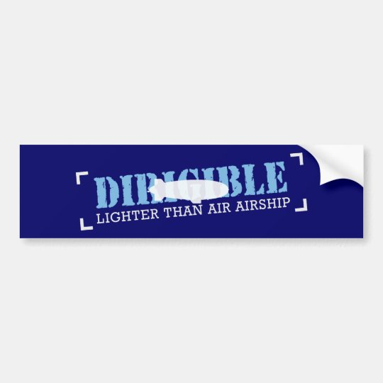 Dirigible Lighter Than Air Airship Bumper Sticker