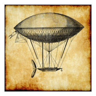 Dirigible Note Card