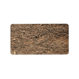 Dirt Background Label