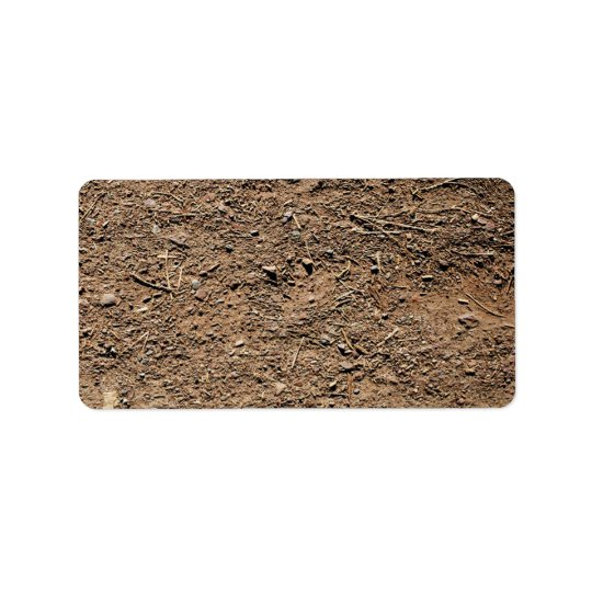 Dirt Background Label