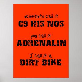 Dirt Bike Adrenalin Motocross Poster