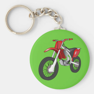 Dirt bike basic round button key ring