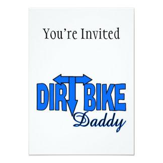"""Dirt Bike Daddy 5"""" X 7"""" Invitation Card"""