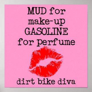 Dirt Bike Diva Motocross Poster Sign