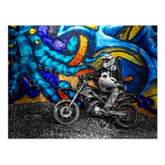 Dirt Bike Graffiti Urban Street Art Postcard