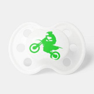 DIRT BIKE (green) Baby Pacifier