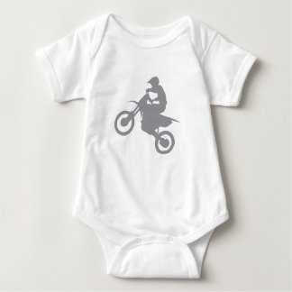 DIRT BIKE (grey) Baby Bodysuit