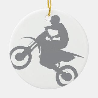 DIRT BIKE (grey) Christmas Ornament