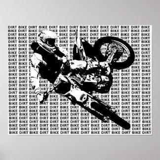 Dirt Bike Motocross Print Poster