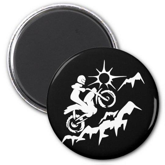 Dirt Bike Mountain 6 Cm Round Magnet