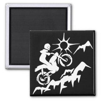 Dirt Bike Mountain Fridge Magnets