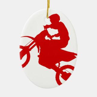 DIRT BIKE (scarlet) Ceramic Oval Decoration