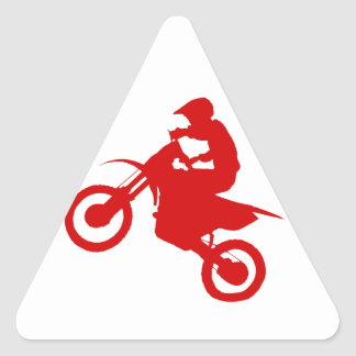 DIRT BIKE (scarlet) Triangle Sticker