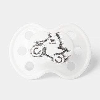DIRT BIKE (scribble black) Baby Pacifiers