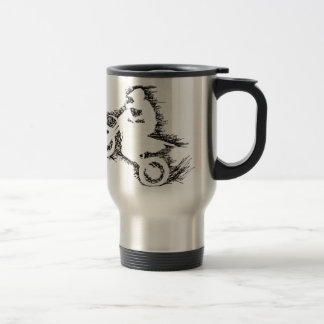 DIRT BIKE (scribble black) Stainless Steel Travel Mug
