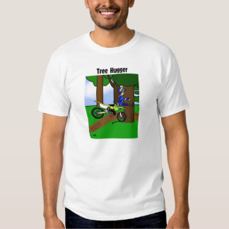 Dirt Bike Tree Hugger T Shirt