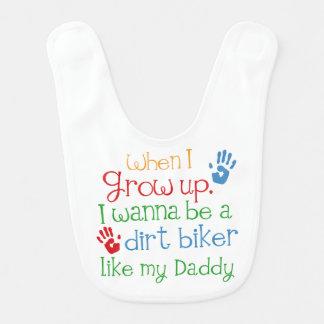 Dirt Biker handprints Baby Gift Baby Bibs