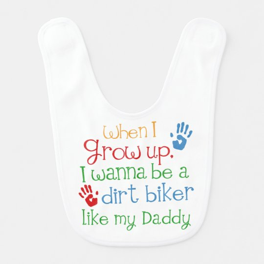Dirt Biker handprints Baby Gift Bib