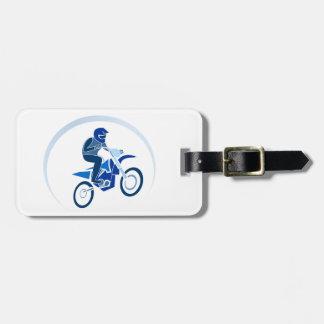 Dirt Biker Vector Biking Luggage Tag