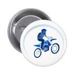 Dirt Biker Vector Biking Pinback Buttons
