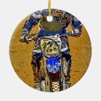 Dirt-Biking Moto-X Champ Designer #Gift Round Ceramic Decoration