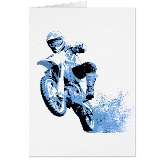 Dirt Biking wheeling in the Mud in Blue