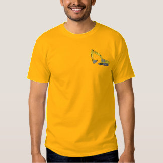 Dirt Excavator Embroidered T-Shirt