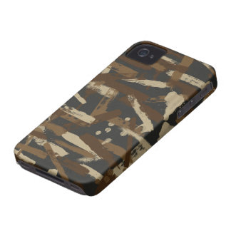 Dirt Paint Stroke Camouflage iPhone 4 Cases