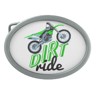 Dirt racer belt buckle